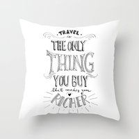 Go & Explore Throw Pillow