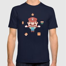 Super Mario Mens Fitted Tee Navy SMALL