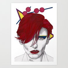 Ziggy Girl Art Print