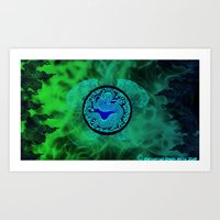 Art Print featuring Dragons Might by Timothy DaRoma