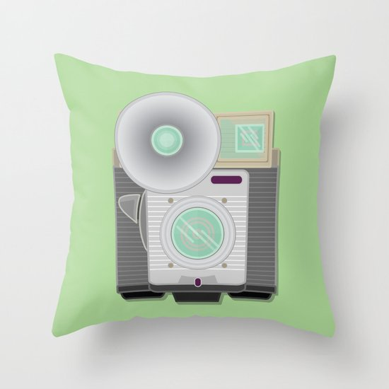 Retro Cam Throw Pillow