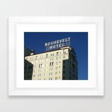 Hollywood Roosevelt Framed Art Print