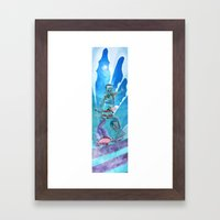 Zombies and Skateboards Framed Art Print