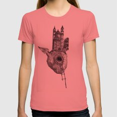 The Heart of The City Womens Fitted Tee Pomegranate SMALL