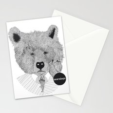 Morning bear Stationery Cards