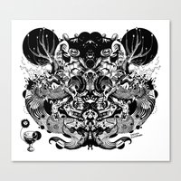 Scorn Pourer Canvas Print