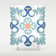 Floor tile 5 Shower Curtain