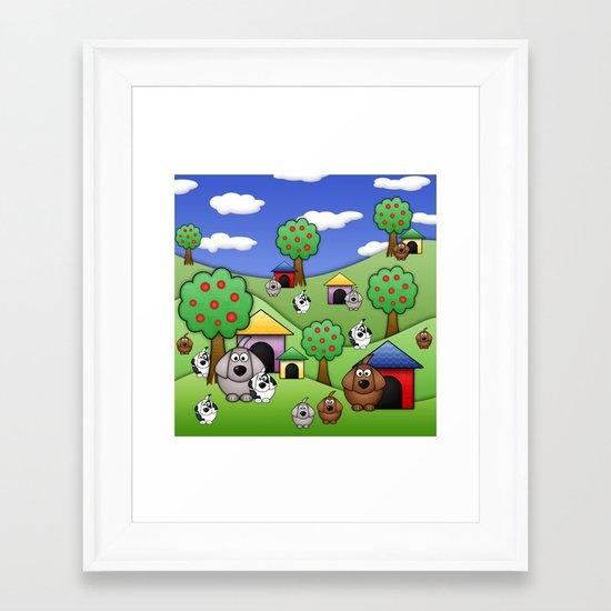 Billy, Bob & Fido.  Framed Art Print