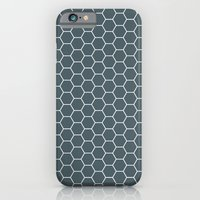 Bluish Grey Hex iPhone 6 Slim Case