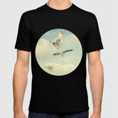Seagull II Black SMALL Mens Fitted Tee