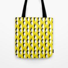 yellow petal lines Tote Bag