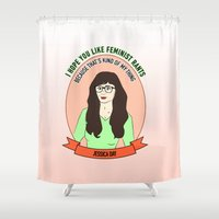 Jessica Day / New Girl Print Shower Curtain