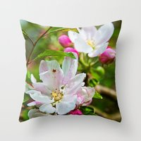 Buds and blossoms Throw Pillow