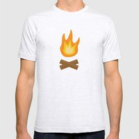 Fire Mens Fitted Tee Ash Grey SMALL