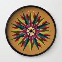 Half Circle Stars Wall Clock