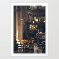 Interior Of The Eglise S… Art Print