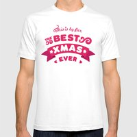 Best Xmas Ever Mens Fitted Tee White SMALL