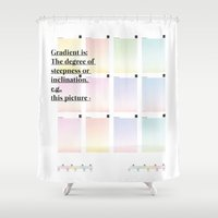 Gradient (English) Shower Curtain