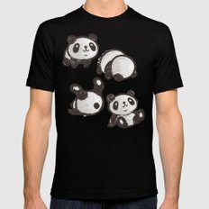 Panda Black Mens Fitted Tee SMALL