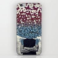 Butterflies In my head. iPhone & iPod Skin