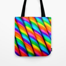 Rainbow Candy : Candy Canes Tote Bag