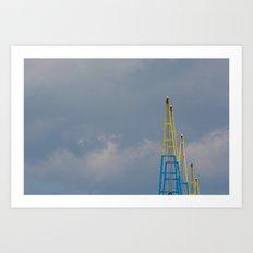 Crane Jibs Art Print