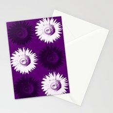 Sunflower black, white and purple Stationery Cards