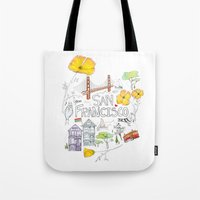 Friends + Neighbors : San Francisco Tote Bag