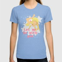 Let Me Be With You Womens Fitted Tee Tri-Blue SMALL
