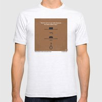 No090 My The Good The Bad The Ugly minimal movie poster Mens Fitted Tee Ash Grey SMALL