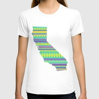 California Modern Navajo Womens Fitted Tee White SMALL