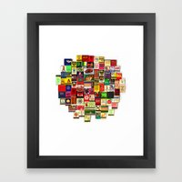 82 Matchbooks Framed Art Print