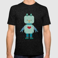 Robot Mens Fitted Tee Tri-Black SMALL