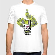 Pixel Dreams Mens Fitted Tee White SMALL