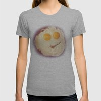 Smiley Egg Womens Fitted Tee Athletic Grey SMALL