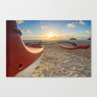 Little Red Canoe Canvas Print