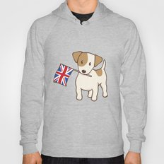 Jack Russell Terrier and Union Jack Illustration Hoody