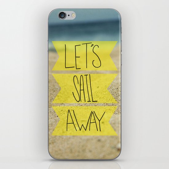 Let's Sail Away: Sandy Beach iPhone & iPod Skin