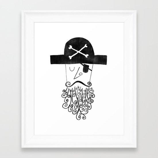 smug pirate Framed Art Print