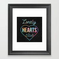 Lonely hearts club Framed Art Print