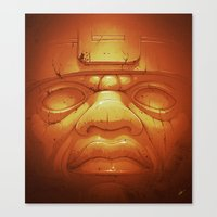Olmeca II. (Gold) Canvas Print