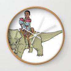 A Boy and his Dinosaur Wall Clock