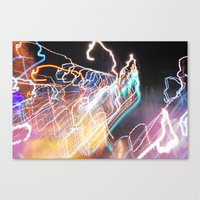 Techno-Finger Painting Canvas Print
