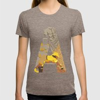 A as Archaeologist Womens Fitted Tee Tri-Coffee SMALL