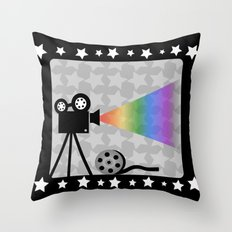 Old movies nostalgia Throw Pillow
