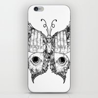 Hate Love Butterfly iPhone & iPod Skin