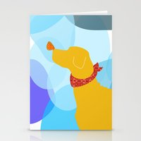 Yellow Labrador Dog Stationery Cards
