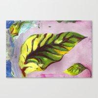 big green leaf Canvas Print