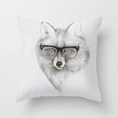 Fox Specs Throw Pillow
