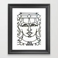 Wrought Iron Face Detail… Framed Art Print